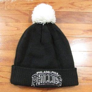 Philadephia Phillies Knit Beanie with Pom